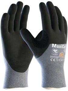 12 x MaxiCut Oil 44-505 3/4 Coated KW Heavy Duty High Cut Protection Gloves