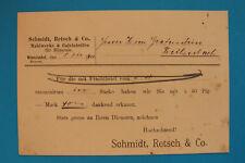 Geschäftspost AK Wunsiedel 1901 Schmidt, Retsch & Co Mahlwerke Calciniröfen Ofr