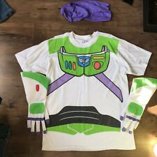 Buzz Lightyear Mens Costume Shirt Gloves Headpiece Toy Story