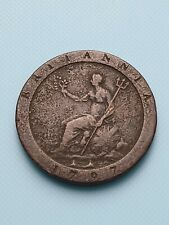 More details for 1797 king george iii britannia copper cartwheel penny coin united kingdom uk