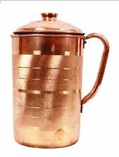 Pure Copper Handmade Water Jug Pitcher Ayurveda Yoga Health Benefits 2 Litre
