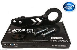 NRG Rear Tow Hook Kit Honda Acura Black TOW-110BK