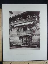 Rare Antique Original VTG 17th Century House At Ahmedabad Engraving Art Print