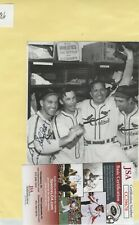Enos Slaughter St. Louis Cardinals Autographed newspaper clippings JSA COA