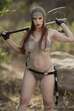ALUMINIUM BUTTED Chain mail Bra + Pantie + Coif Intimate - Swim Wear Beach Party