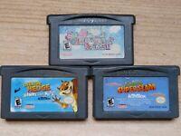 Game Boy Advance Video Game Lot Super Mario Advance Shrek Superslam Over Hedge