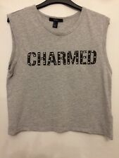 Ladies Size Small Beaded Grey Vest Top From Forever21