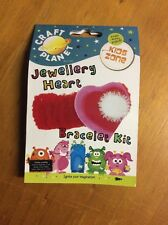 Jewellery Heart Bracelet Kit, By Craft Planet, Scrapbooking And Crafts