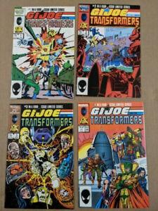 GI JOE AND THE TRANSFORMERS (1987) ISSUES 1 - 4 MARVEL COMICS
