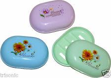 3PC SOAP DISH CASE HOLDER PLASTIC CONTAINER BOX TRAVEL CARRY CASE BATHROOM SET