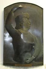 Rare Homer Gunn Bronze Modernist Sculpture of Music Conductor Listed Sculptor