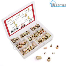 150pcs Rivet Nut Tool Kit Mixed Zinc Carbon Steel Threaded Rivnut Nutsert Insert