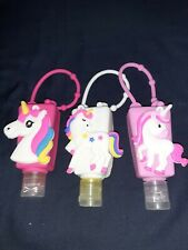 3 Pack Unicorn Silicon Carrying Holder Case for 1 oz Hand Sanytizer Bottle
