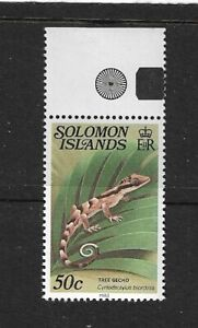 1983 Solomon Islands - Lizard - Single Stamp  - Unmounted Mint.