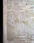 CIVIL WAR ENDING Fall of Richmond w/ Abraham Lincoln 1865 Pro Rebel Newspaper