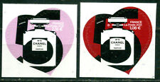 ADHESIF PAIRE CHANEL N° 5 TIMBRES 1,08e + 2,16e NEUFS **
