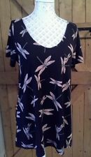 LOVELY LADIES BLACK NEXT DRAGONFLY TOP BOW TO TIE ON BACK BNWOT SIZE 6
