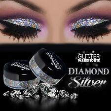 GlitterWarehouse Diamond Silver Holographic Loose Glitter Eyeshadow Powder