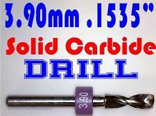 ".154"" 3.90mm  -Solid Carbide Drill Bit - 1/8"" Shank -Sharp! CNC Hobby Model -lu"