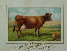 1870's-80's Dwight's Cow Brand Soda Farm/Pasture Scene Sweet Brown Cow F97