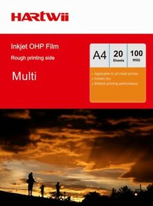 20 -100 Sheets Overhead Projector OHP Film Acetate Clear A4 withStrip Inkjet AU