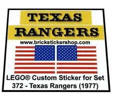 Precut Replica Sticker for Lego Set 372 - Texas Rangers (1977)