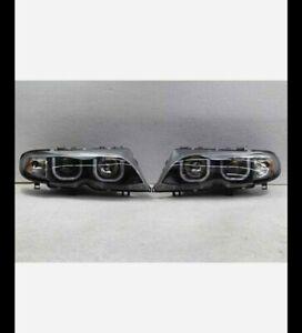 Black 2002-2005 BMW E46 Sedan 3-Series LED [3D Style] Halo Projector Headlights