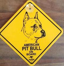 12cm Roadsign Schild mit Saugnapf AMERICAN PITBULL Warnschild Hund