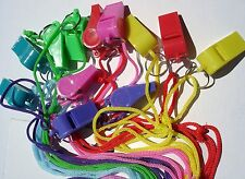 """2"""" NEON WHISTLES  LOT OF 24 CARNIVAL, FESTIVALS, PARTY TOYS, FAVORS ,SCHOOLS"""