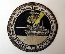MARINE STORM TROOPER PATCH BULLET STOPPER,MINE HOPPER, TANK POPPER PIN UP USA!