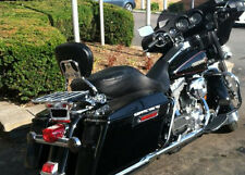 Detachable Backrest Sissybar Flat luggage Rack Harley Davidson Touring 97-08 2--