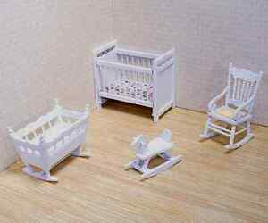 Dollhouse Furniture * 4 pc. NURSERY SET  #2585 ~ scale1:12 ~Melissa & Doug