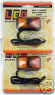 2 X LED AMBER/RED CLEARENCE LIGHT TRUCK TRAILER 58ARM