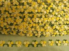 Guipure Yellow Flower Trim   x 2 mts