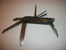 VINTAGE TO ANTIQUE POCKET KNIFE EXTREMELY RARE MULTI 7 TOOL KNIFE VERY OLD