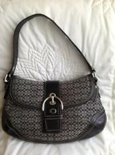 Coach Soho Signature Jacquard Flap Purse Shoulder Handbag F10926 Black/Grey