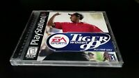 Tiger Woods '99 Playstation 1 Video Game Complete EA Sports Nike Golf PGA Tour