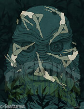CREATURE FROM THE BLACK LAGOON Gillman ART PRINT 11x14 Poster Giclee E Deoudes