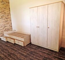Dormitorio Infantil Habitación Juvenil Set completo Armario Cuna Cama Blanco