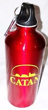 Catan Game Red Metal Water Bottle Canteen Flask With Clip New Free Shipping