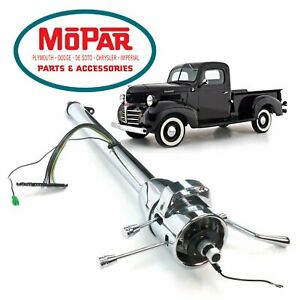 "1946-80 Dodge W Truck 33"" Chrome Steering Column Auto Trans w300 hemi fargo w100"