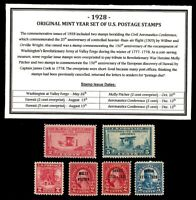 1928 YEAR SET OF MINT -MNH- VINTAGE U.S. POSTAGE STAMPS