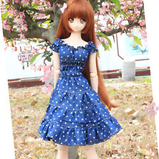 New BJD 1/4 MSD Smart Doll Clothes Sweet Jeans Wave Point Cute Dress/Skirt