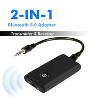 2 in 1 Speaker Wireless Bluetooth 5.0 Transmitter Receiver Chargable TV PC Car/*