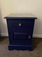 Blue Embellished Bedside Cabinet used