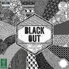 DOVECRAFT Paper 12x12 FULL PACK FIRST EDITION Black Out Scrapbooking