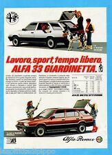 QUATTROR985-PUBBLICITA'/ADVERTISING-1985- ALFA ROMEO - ALFA 33 (versione B)