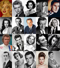 Vintage Movie Star Wall Art Golden Age Of Film Cinema Hollywood Greats 200gsm