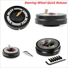 Black Thin Version Racing Quick Release Adapter Steering Wheel Hub Car Boss Kit