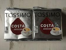 Tassimo Costa Americano Caffè 2 Confezioni 32 X Grande Dimensione Della Tazza